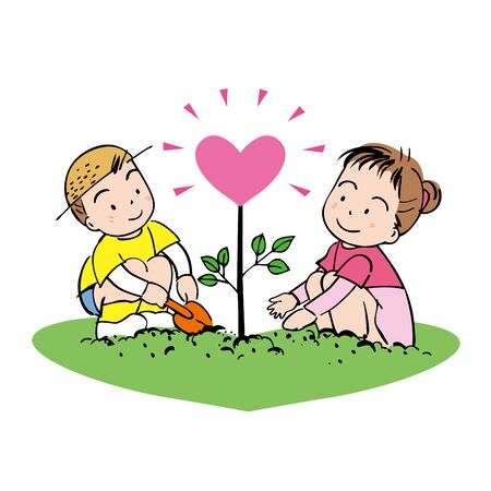 Gardening tree of heart photo