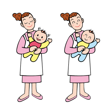 babysitter: Baby babysitter Stock Photo