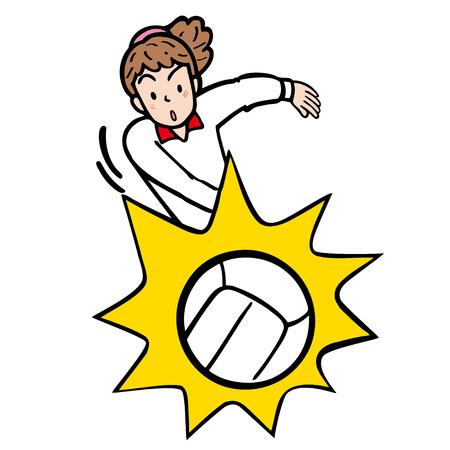 Volley bal  Stockfoto