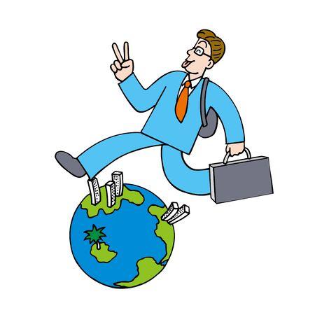 environmental suit: Earth man