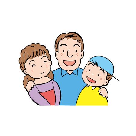 asian family fun: Family Stock Photo