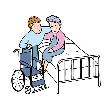 Altenpfleger Standard-Bild - 41792591