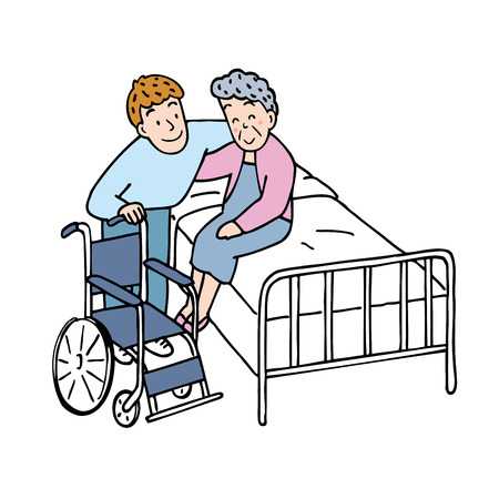 sick person: Caregiver Stock Photo