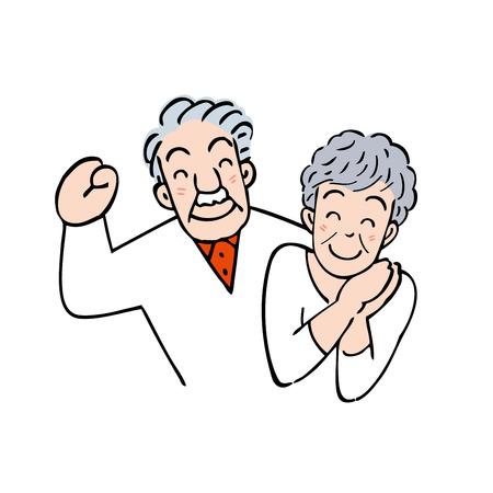 older woman smiling: Couple Stock Photo