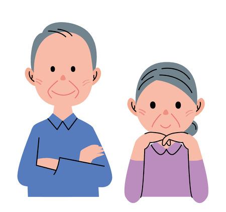 older woman smiling: Senior couple Stock Photo