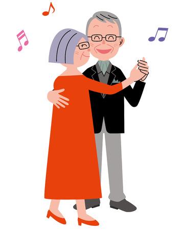 Senior couple dance Foto de archivo
