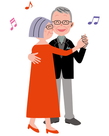 old wife: Senior couple dance Stock Photo