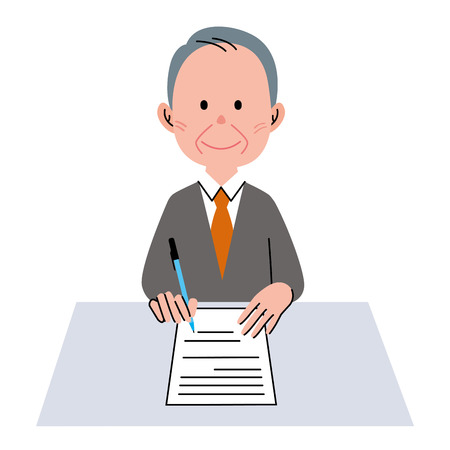 Document senior man Banco de Imagens