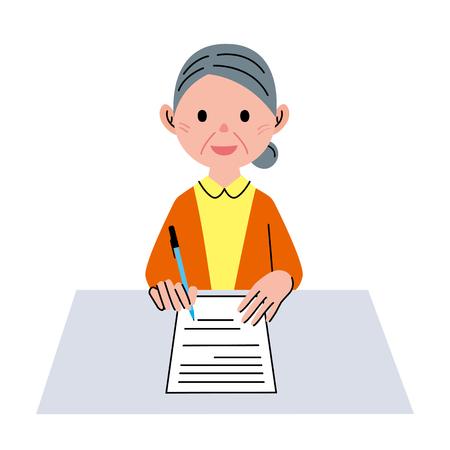 middle age women: Document senior woman