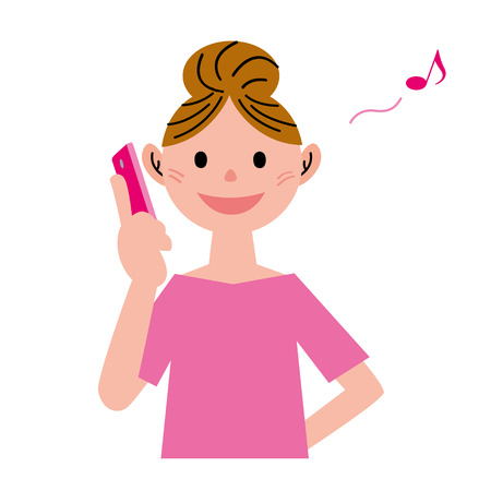 woman on phone: Mobile phone woman