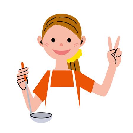 helper: Cooking Stock Photo