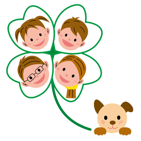 animals frame: family clover pet