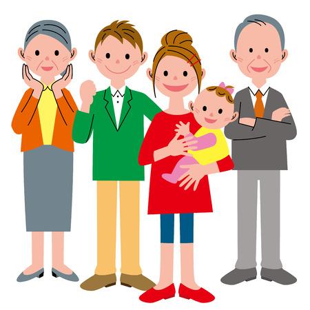 three generation: Family three generation