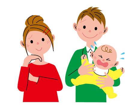 mujeres pensando: Grito de bebé Foto de archivo