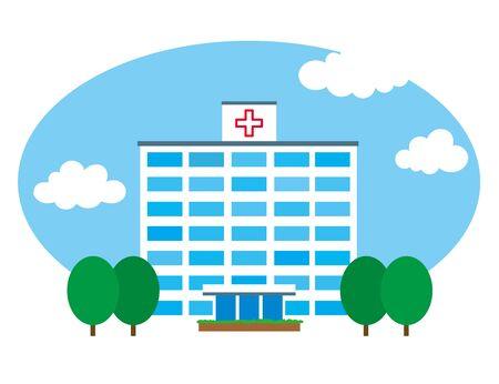 Ciel Hôpital Banque d'images - 45674544