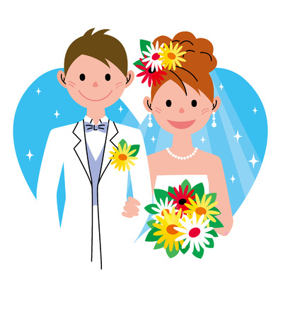 cartoon bouquet: Bridal