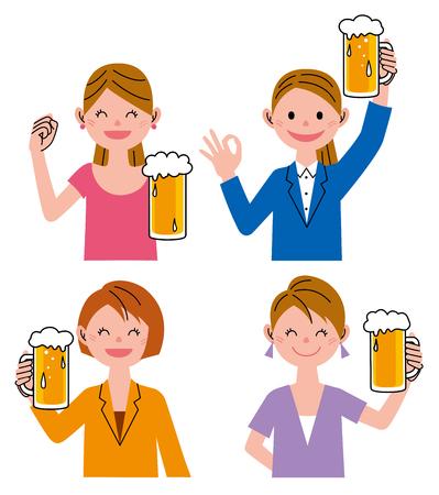 variation: Woman beer variation