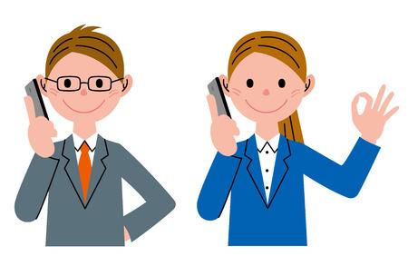 talking cartoon: Mobile telephone set
