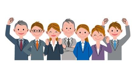 office team: Businessman guts
