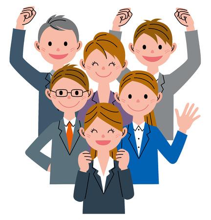 zakenman groep Stockfoto