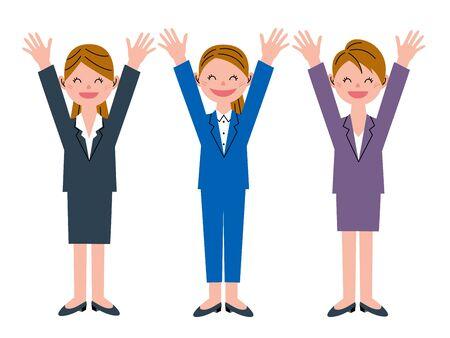 hurray: Congratulations! Women 3 people