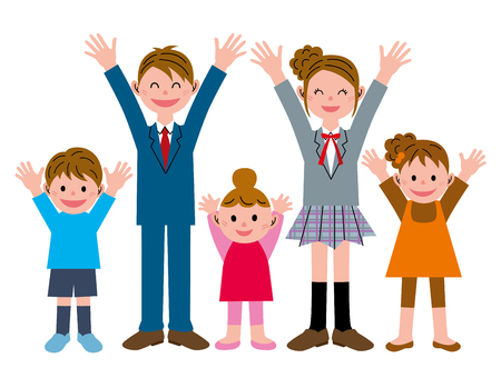5 people: Congratulations! Children 5 people