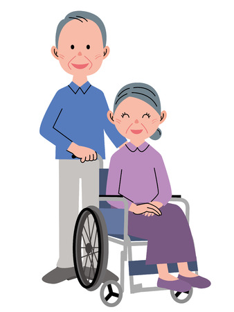 assisted: Woman in a wheelchair