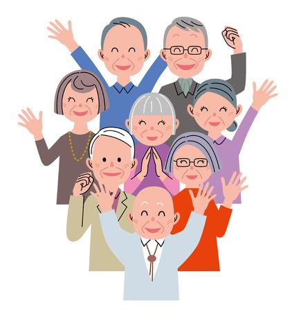 Senior happiness 스톡 콘텐츠