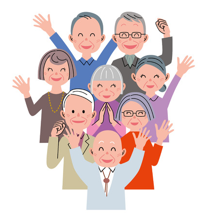 pensioners: Senior happiness Stock Photo