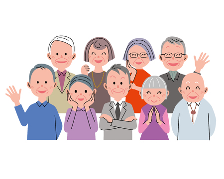 asian adult: Senior citizens Stock Photo