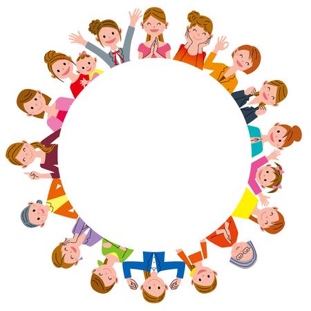 mujeres juntas: Las mujeres en círculo