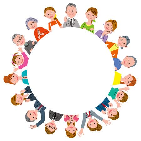 People in circle Zdjęcie Seryjne