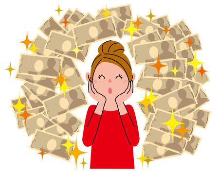 Woman Big money