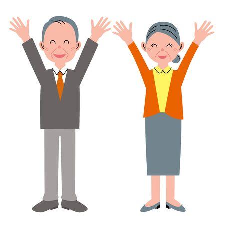 personas ancianas: ¡Felicidades! Las personas de edad