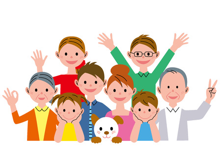 asian family: Family Stock Photo