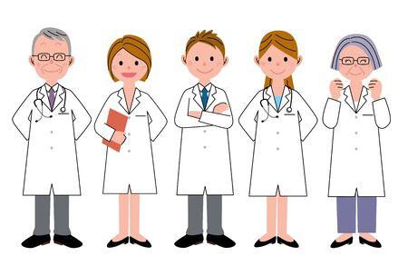 mature men: Health care worker team