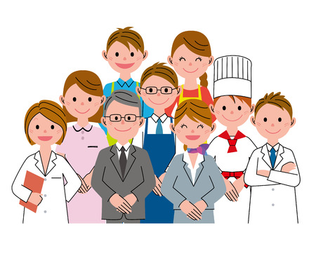 nurse home: Care team Stock Photo