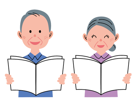 older woman smiling: Senior Couple  Pamphlet