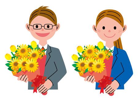 bunch: Bunch of flowers Sunflower Stock Photo