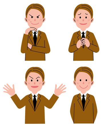 plotting: Expression Set Man Stock Photo