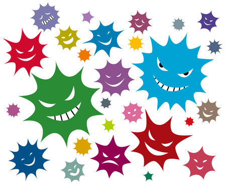 Virus with multicolor Stock Vector - 50119471