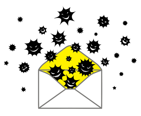 mail icon: Virus spread Illustration