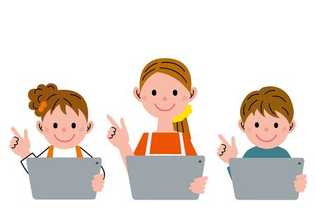 Famille et tablet pc Banque d'images - 50247680