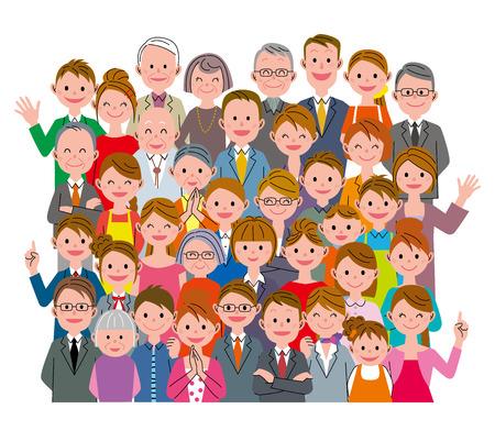 люди: Много людей Фото со стока