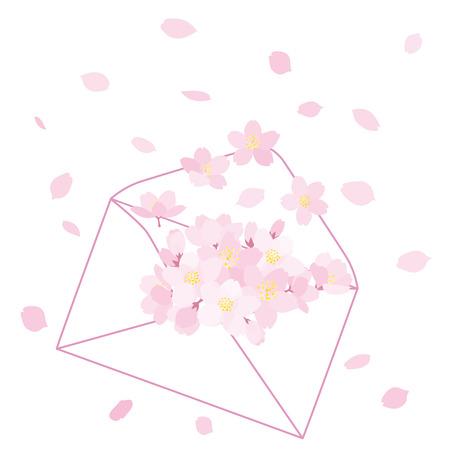Cherry blossoms letter Reklamní fotografie