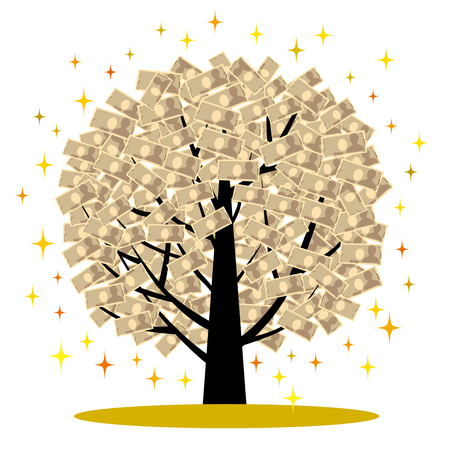 economic interest: The tree which money grows on Illustration