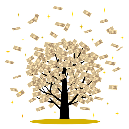 which: The tree over which money flies