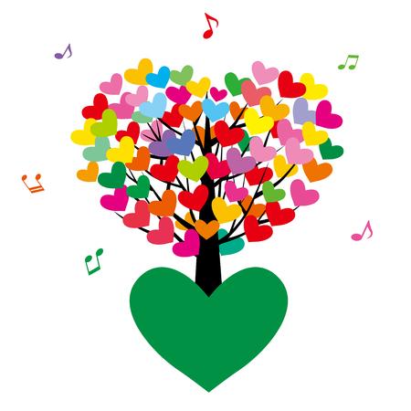 Tree of heart Vectores
