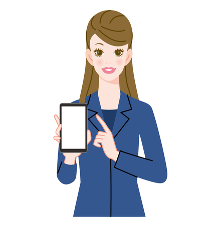 woman on phone: Woman and smart phone Stock Photo