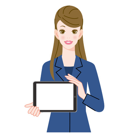 woman tablet: Woman and tablet